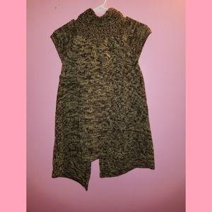 Tomfoolery Sweaters - Short Sleeve Brown Sweater